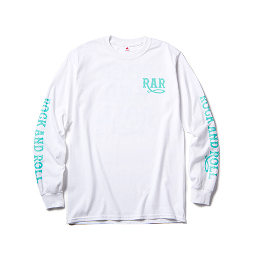 ROCK AND ROLL LONG SLEEVE T / WHITE×GREEN