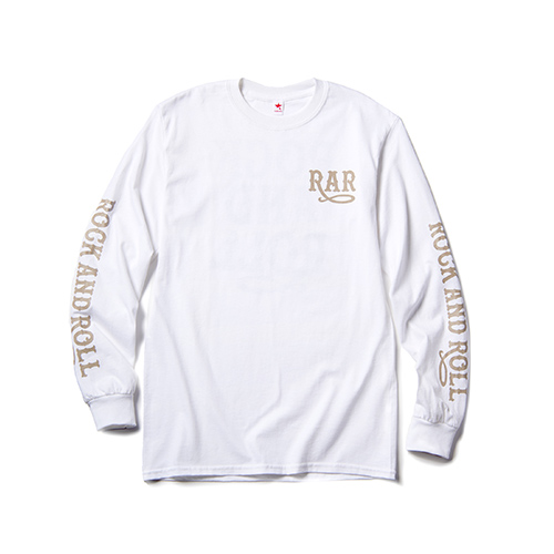 ROCK AND ROLL LONG SLEEVE T / WHITE×BEIGE